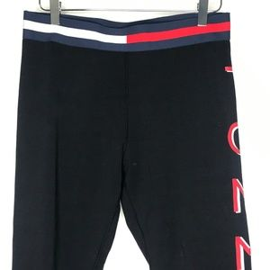 Tommy Hilfiger Pants - Tommy Hilfiger Sport Black Cropped Legging A060521